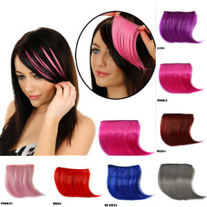 Hot Selling Women Colorful Front Bangs Clip In Hairpiece Seamless Hair Extension