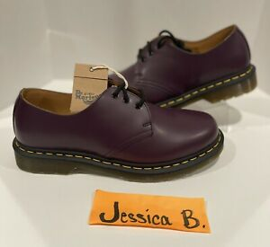 Dr. Martens 1461 Low Purple Smooth Leather Oxford Shoes Mens Sz 10/Women's Sz 11