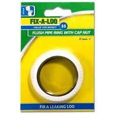 "FIX-A-LOO FLUSH PIPE RING WITH CAP NUT - 50mm : 2"" INCH"