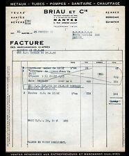 """NANTES (44) QUINCAILLERIE , CHAUFFAGE & APPAREIL MENAGER """"BRIAU & Cie"""" en 1958"""