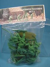 barzso rogers' rangers 54mm plastic bag set#2 approx15 unpainted figs1998 miboop