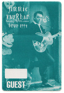 Jimmie Vaughan Green Backstage Pass - 1994 Tour