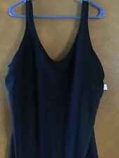 T.H.E Woman's Plus Black Swimsuit With Adjustable Straps NWT Size 24W 1X