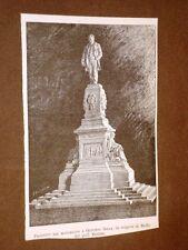 Biella nel 1886 Per il monumento a Quintino Sella Progetto del Prof.Bortone