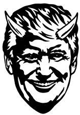DONALD TRUMP DEVIL FACE Vinyl Decal Sticker Window  Bumper Thermal Yeti
