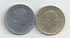 2 DIFFERENT COINS from ITALY - 50 & 200 LIRE (BOTH DATING 1979)