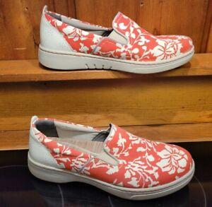 Dansko Belle Canvas Floral Slip on Shoe Women's Size 41 /10.5 Removable insole