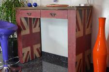 Consolla Scrivania UK 2 Cassetti Legno Massello Stile Industriale Loft Vintage