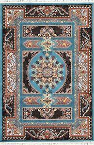 Glorious Animal Pictorial Floral Hereke Turkish Oriental Wool Acrylic 5x7 Rug