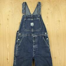 LEE DUNGAREES riveted denim overalls, size MEDIUM, blue vtg