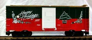 LIONEL 8-87021 CHRISTMAS BOX CAR 1999