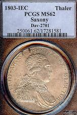 German States Saxony 1803 IEC Taler Coin PCGS MS62 F.STG Thaler Deutschland D850
