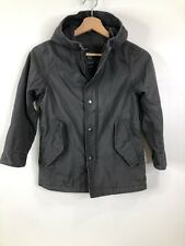 Gap Kids Gray Hooded Jacket Small Regular Zip Snap Closure