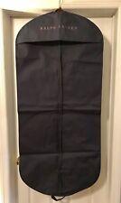 100% Authentic Ralph Lauren Long Garment Bag Navy Blue & Gold Letters Brand New
