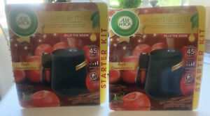 NEW 2 PK Air Wick Essential Mist Apple Cinnamon with Free Refill and batteries.