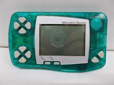 WS -- Wonder Swan Console Skelton Green -- WonderSwan, JAPAN Game Bandai. 192