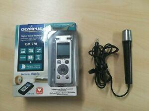 Olympus DM-770 Premium Digital Voice Recorder Dictation Machine Silver 8GB