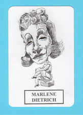 Marlene Dietrich Movie Film Star Spanish Caricature Card