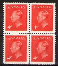 Canada 1949 Sc287 $ 2.2  Mi254A 2.0 MiEu  1 block  mnh  George VI