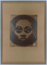 Firmado Serigrafía carrete a carrete Music Box Acid House Ron Hardy Casa Op Art