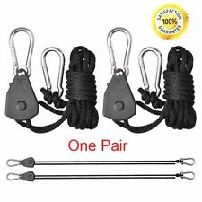 2Pack Adjustable Rope Hanger Ratchet Reflector Hangers 150lb 1/8 Hang Led Plant