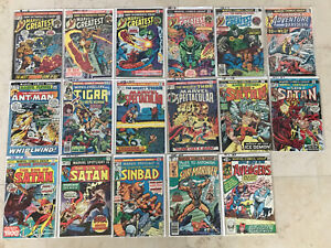 Bronze Age Comics Black Panther Vision Scarlet Witch Avengers Thor FF Son Satan