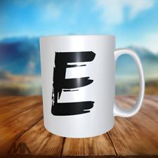 "ALPHABET LETTER -TEA/ COFFE MUGS - letter ""E"" - perfect gift"