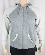 Womens NWT Style & Co. Sport Gray Grey Zip Up Jacket Hoodie Plus Size 0X
