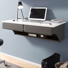 Schreibtisch Desk Bürotisch Arbeitstisch hängend in MDF weiß matt und lava 90x51