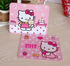 Free Shipping 2pcs Cute Hello Kitty Laptop Computer PC Mouse Pad Mat