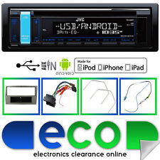 JVC CD MP3 RDS Tuner USB Aux iPod Car Stereo & Vauxhall Astra H Facia Kit Silver