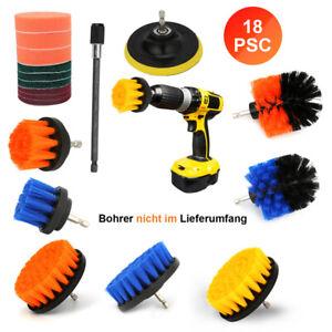 18X Set Bürstenaufsatz Reinigung Effektiven Scheuerschwämmen Für Bohrmaschine