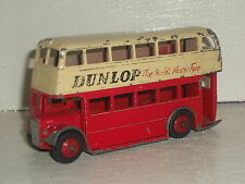 DINKY TOYS LEYLAND DOUBLE DECKER BUS DUNLOP - 290