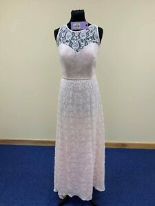 Alfred Angelo 535 sz 16 New prom/bridesmaid dress pink with ivory lace Disney