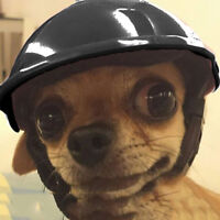 Pet Dog Safety ABS Helmet Riding Cap Cosplay Bike Motorcycle Hat for Small Dog