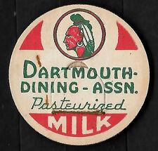!930's Dartmouth Dining Assn. Milk Bottle Cap - Dartmouth College