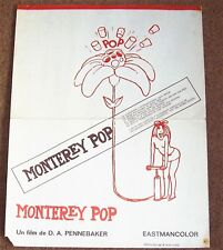 MONTEREY POP FESTIVAL SPANISH FILM POSTER 1972 SUPERB RARE WHO HENDRIX JOPLIN