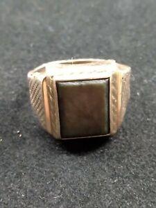 Vintage 9ct Gold Mens Cygnet Ring Mens