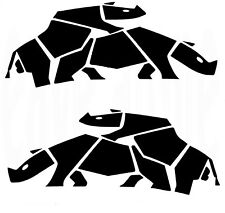 2 Gloss Black Rhino decals, Suzuki Animal VOITURE 4x4 JEEP. Fun Horny Sexy. Off Road
