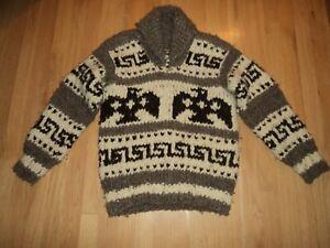 Vintage COWICHAN Handknit Sweater Thunderbird  Pullover
