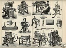 1892= LIBRI MACCHINARI PRODUZIONE  = Industria Artigianato = STAMPA Antica
