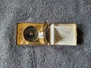 Old 1940s Boyd Sun-Time Pocket Compass & Sundial