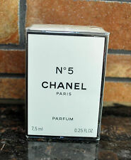 CHANEL N.5 PERFUME 0.25 FL oz / 7.5 ML Parfum Sealed Box