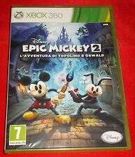 DISNEY EPIC MICKEY 2 L'AVVENTURA DI TOPOLINO E OSWALD XBOX 360 Ita1ª Ed ○ NUOVO