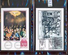 STAMPS 2 CARD MAXIMUN VATICAN CITY POPE (L7281)