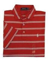 $98 Men Polo Ralph Lauren Pony Striped Soft Touch Med Fit Classic Golf Shirt M