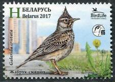 Crested Lark Bird of the Year mnh stamp 2017 Belarus Birdlife International