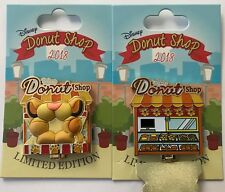 Disney Parks Disneyland 2018 LION KING Simba Donut Shop hinged LE Pin of Month