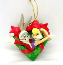 Vintage Bugs Bunny & Lola Christmas Ornament Warner Bros made 1998