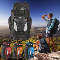 80L Extra Large Nylon Camping Backpack Travel Hiking Rucksack Luggage Bag Best